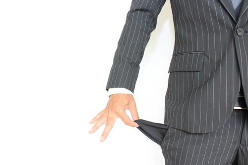 Businessman with empty pocket