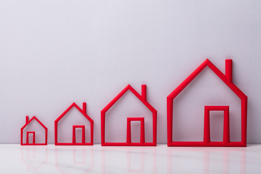 Houses outlined in red