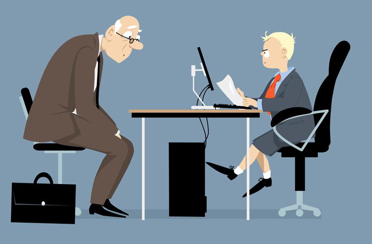 Elderly Person Being Interviewed