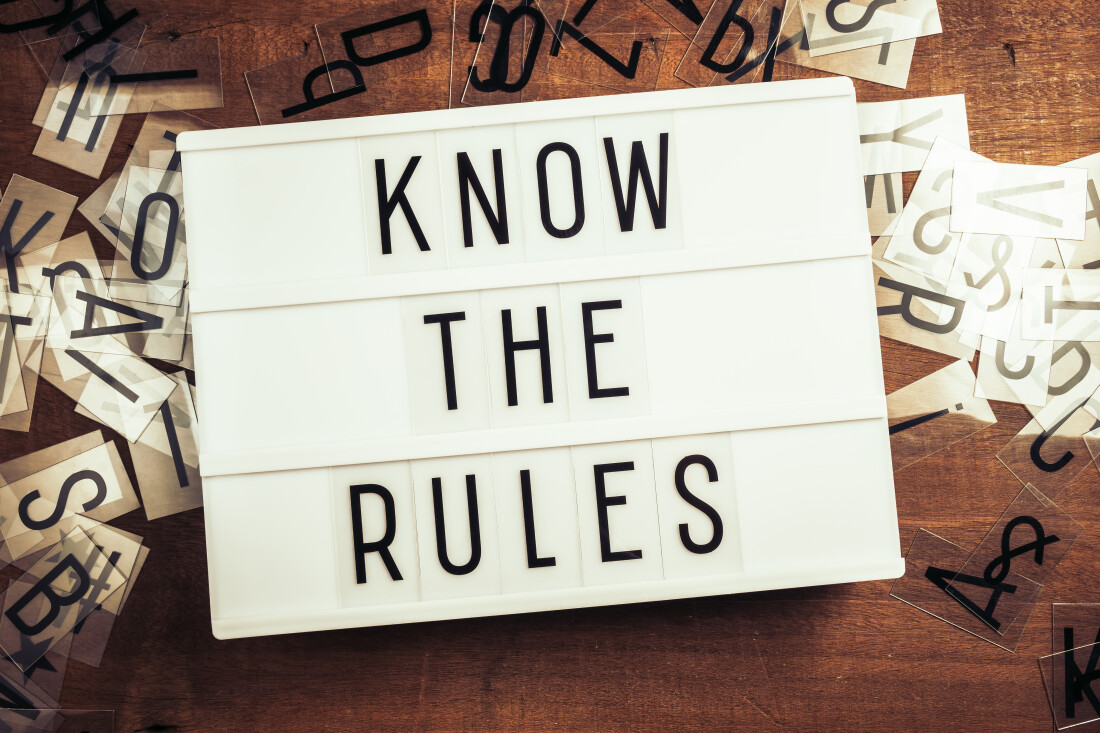 Know the Rules text on Lightbox