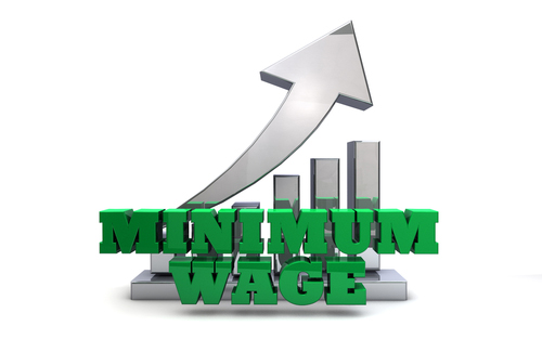 Minimum Wage Rising Concept
