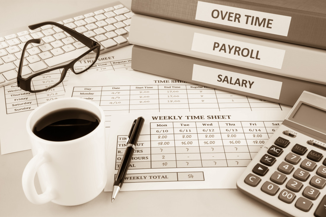 overtime salary payroll weekly time sheet