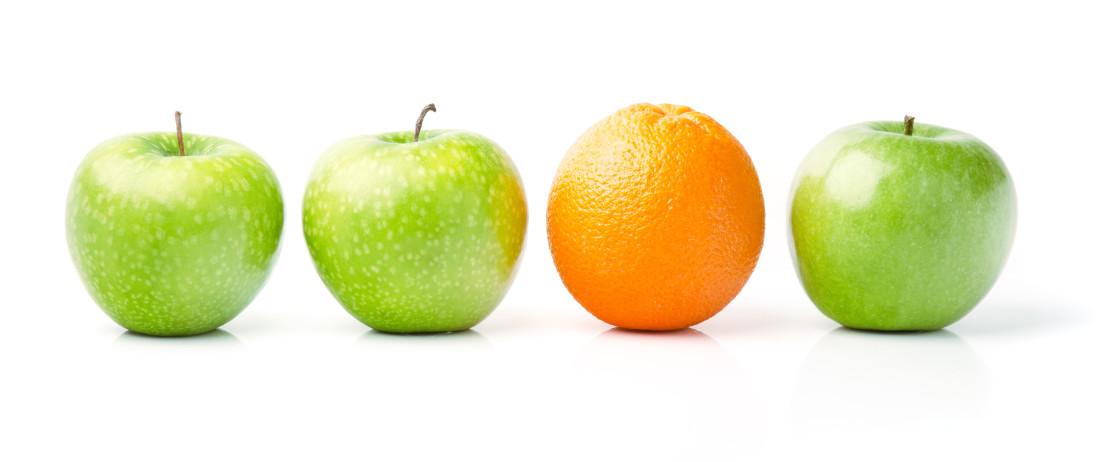 Orange Among Green Apples