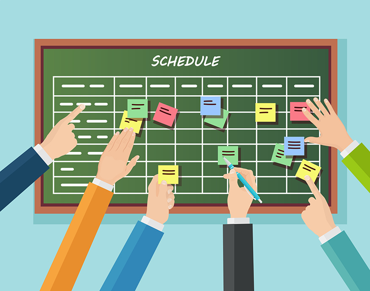 Schedule with Postits