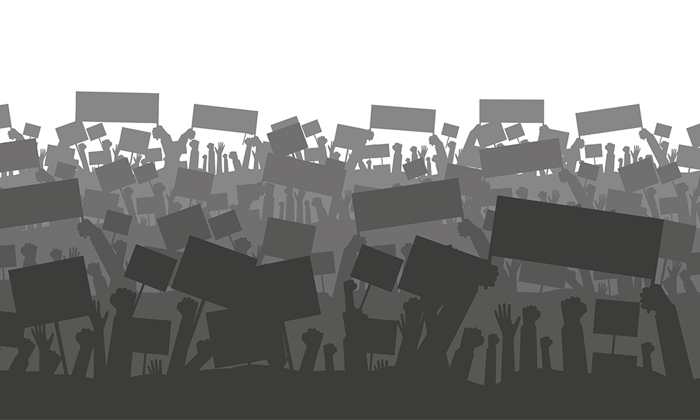 Silhouette Protesting