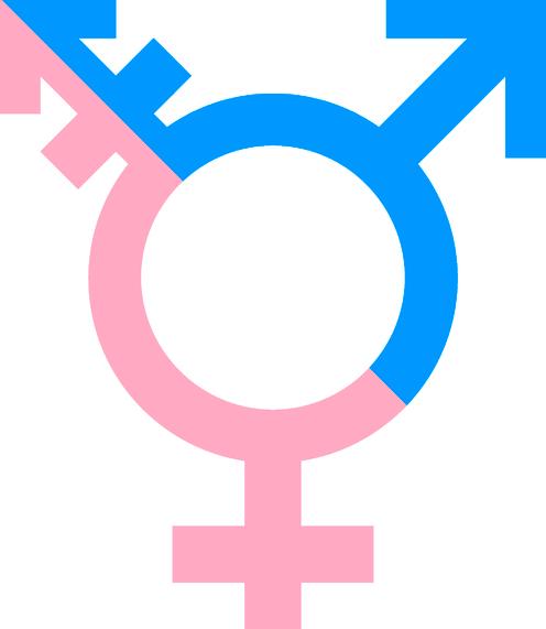 Transgender Symbol Pink and Blue