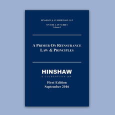 Hinshaw & Culbertson LLP on the Law Series Volume !