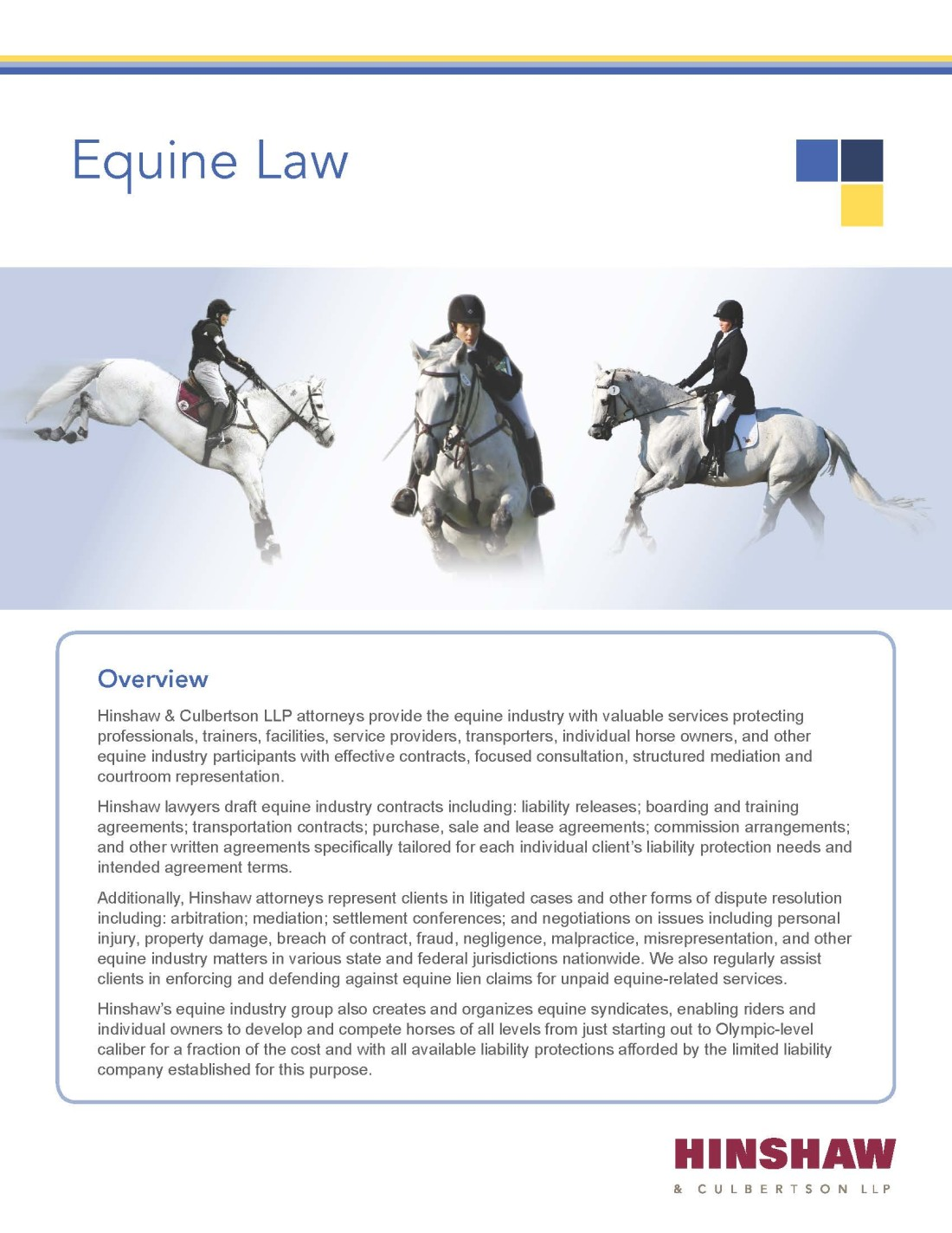 Equine Law Brochure cover