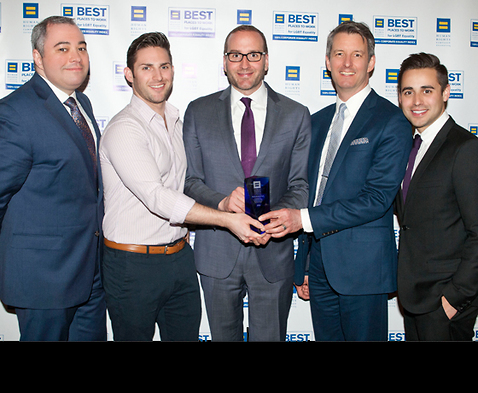 Image of Hinshaw's LGBTQ Affinity Group Members Accept Sixth Consecutive HRC Corporate Equality Index (CEI) Award in NYC